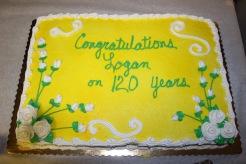 120th anniv cake