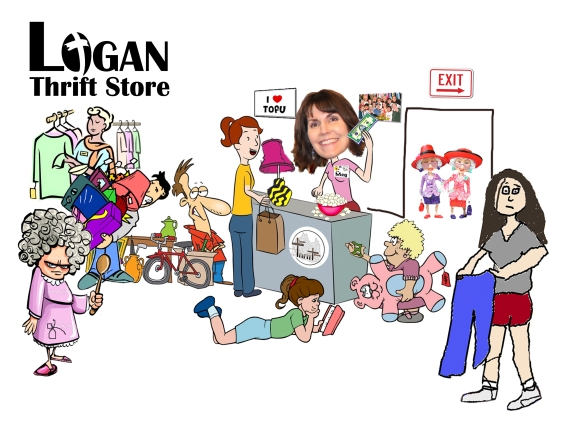 Logan Thrift Store cartoon